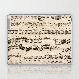 Johann Sebastian Bach (1685 – 1750) original music sheet Laptop & iPad Skin
