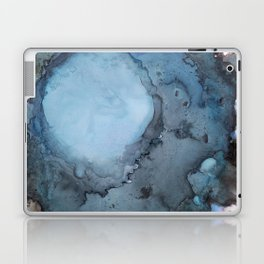 Black and Blue Vortex Ink Painting Laptop & iPad Skin