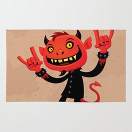 Heavy Metal Devil Rug