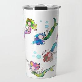 Watercolor Mermaids Travel Mug