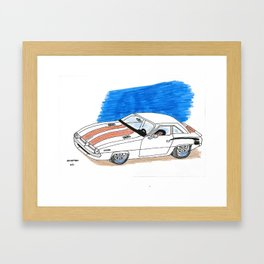 2010 Challenger Drawing Framed Art Print