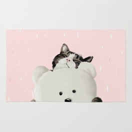 Cat Hug Me! Rug