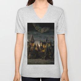 Hogwarts Night Unisex V-Neck