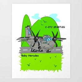 "C-27J ""Spartan"" Aircraft Art Print"