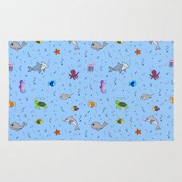 Sea creature pattern Rug