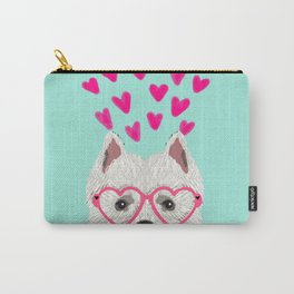 Westie west highland terrier white valentines day dog lover pet valentine Carry-All Pouch