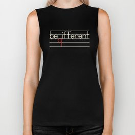 Be Different Typography Design Biker Tank