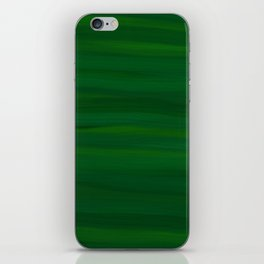 Emerald Green Stripes Abstract iPhone Skin