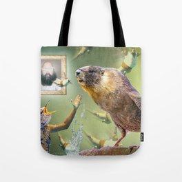 Illegal Bird Meeting Tote Bag