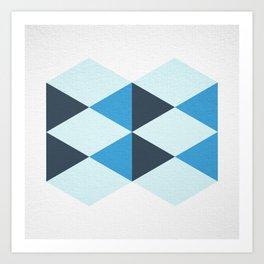 blue geometrica #1  Art Print