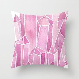 Rose Quartz Watercolor Throw Pillow