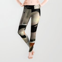 Enso Abstraction No. 105 by Kathy morton Stanion Leggings