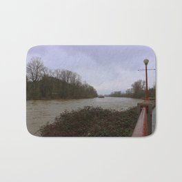 Willamette River Eugene Oregon Bath Mat