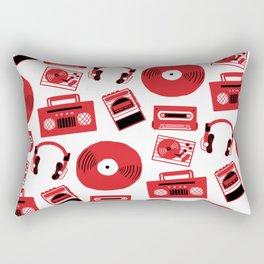 Red Music Rectangular Pillow