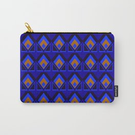 Blue and Orange Pattern Carry-All Pouch