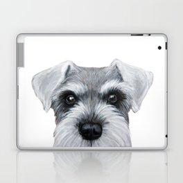 Schnauzer Grey&white, Dog illustration original painting print Laptop & iPad Skin
