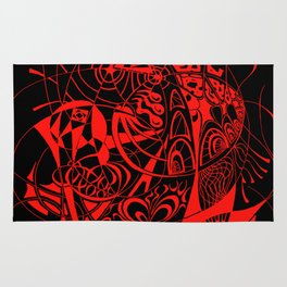 Filanes-45 deep red Rug