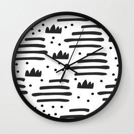 Abstract scandinavian art Wall Clock