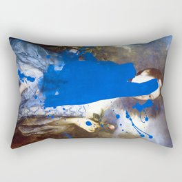 Blue Bomb Rectangular Pillow