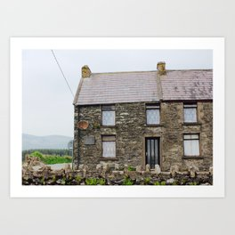 House - Dingle Peninsula, Kerry, Ireland Art Print