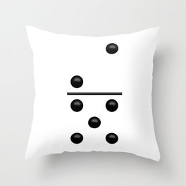 White Domino / Domino Blanco Throw Pillow