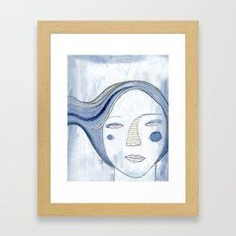 water whispering over the valley Framed Art Print