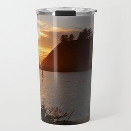 An Amazing Sunset Over First Beach Travel Mug
