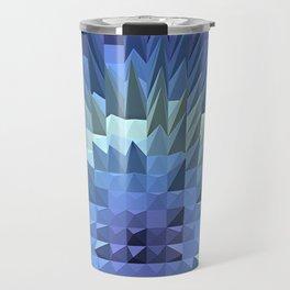 Abstract geometric 3D poligonal texture. Travel Mug