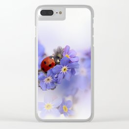 Ladybirds on Forget-me-not Clear iPhone Case