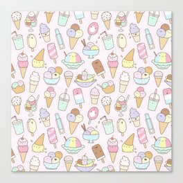 I love Ice Cream Canvas Print