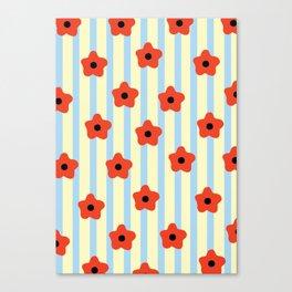 Poppies & Stripes Canvas Print