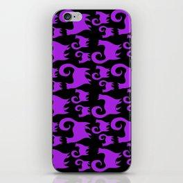 Purple Snobby Cats iPhone Skin