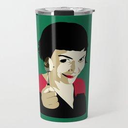 Cracking Creme Brulee with a teaspoon Travel Mug