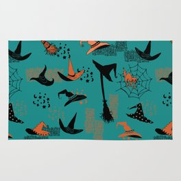 Halloween Witch Hats Rug