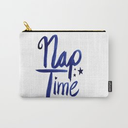 Nap Time   Lazy Sleep Typography Carry-All Pouch