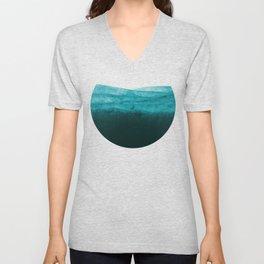 Aqua Watercolor Tide Unisex V-Neck