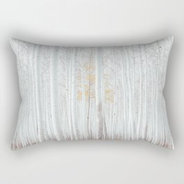 White tree forest Rectangular Pillow