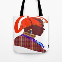 Kenya massai warrior digital art graphic design Tote Bag