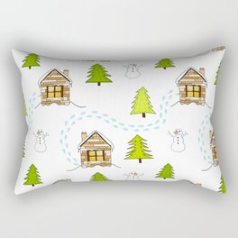 Alpine Ski Resort Rectangular Pillow