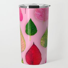 Plants on Pink Travel Mug