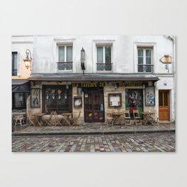 Cafe in Monmartre Paris Canvas Print