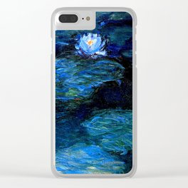 monet water lilies 1899 blue teal Clear iPhone Case