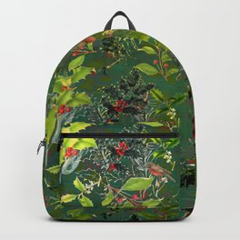 Christmas Pattern with Green Background Backpack