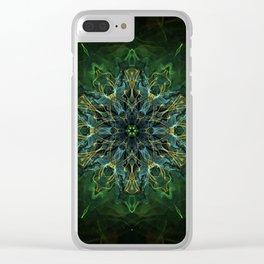 Soul Nebula Mandala Clear iPhone Case