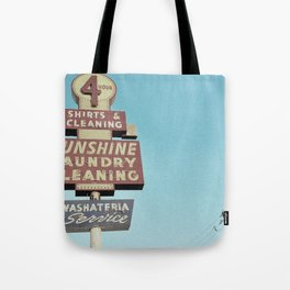 Sunshine Laundry Cleaning Tote Bag