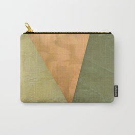 Golden Triangle With Green and Cream Carry-All Pouch