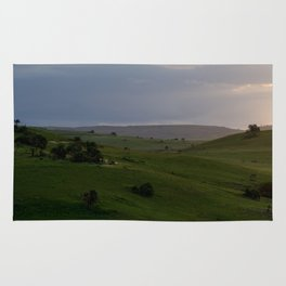 Rolling hills at the Wild Coast Rug