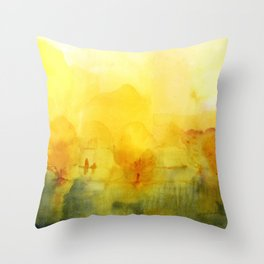 Memory of a landscape Throw Pillow