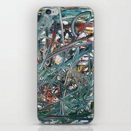 Scramble of disruption iPhone Skin