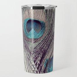 Peacock Feathers Travel Mug